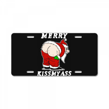Santa Chrismas Xmas Funny License Plate Designed By Romeo And Juliet