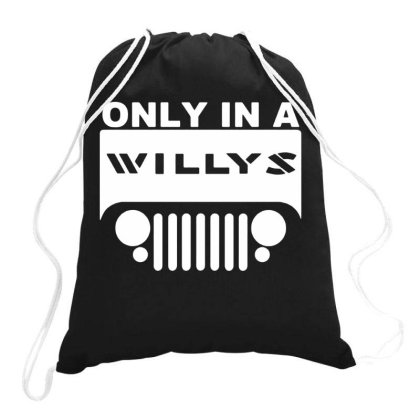 Jeep Willys Drawstring Bags Designed By Swan Tees