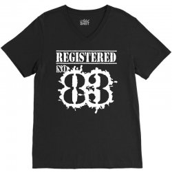 registered no 83 V-Neck Tee | Artistshot
