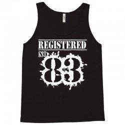 registered no 83 Tank Top | Artistshot