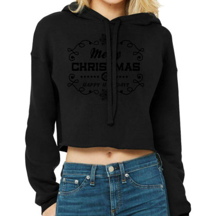 Merry Christmas, Happy New Year, Have A Holly Jolly Cropped Hoodie Designed By Estore
