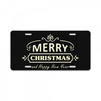 Merry Christmas, Happy New Year, Have A Holly Jolly License Plate Designed By Estore