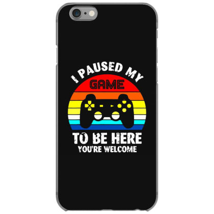 I Paused My Game To Be Here Vintage Retro Sunset Iphone 6/6s Case Designed By Funtee