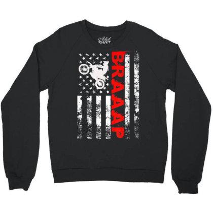 Braaap Vintage Usa American Flag Crewneck Sweatshirt Designed By Welcome12