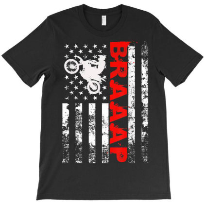 Braaap Vintage Usa American Flag T-shirt Designed By Welcome12