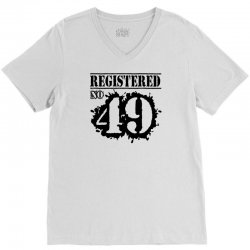 registered no 49 V-Neck Tee | Artistshot