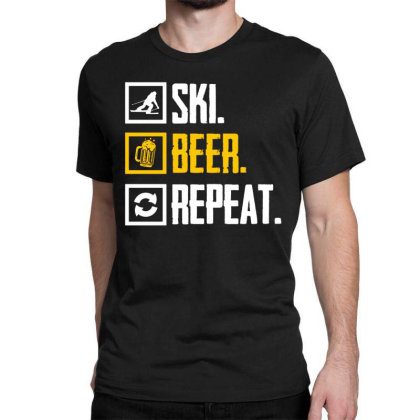 Ski Hobby Beer Holiday Classic T-shirt Designed By Funtee