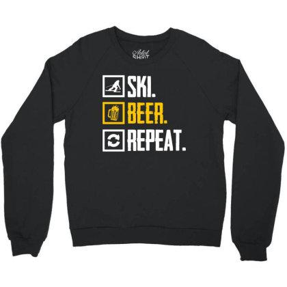 Ski Hobby Beer Holiday Crewneck Sweatshirt Designed By Funtee
