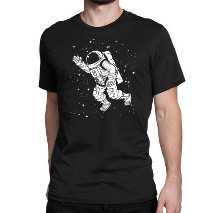 Space Astronaut Classic T-shirt Designed By Funtee