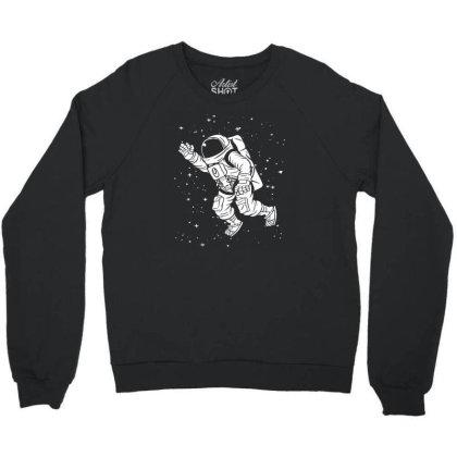 Space Astronaut Crewneck Sweatshirt Designed By Funtee