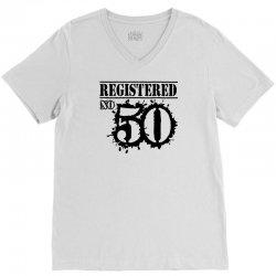 registered no 50 V-Neck Tee   Artistshot