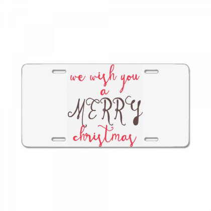 We Wish You A Merry Christmas, Happy New Year License Plate Designed By Estore