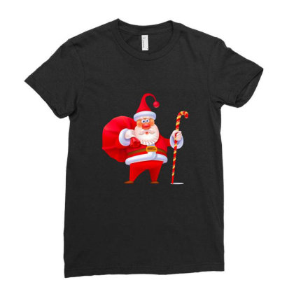 Santa Claus Ladies Fitted T-shirt Designed By Chiks