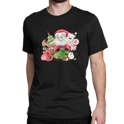 Santa & Friends Classic T-shirt Designed By Chiks