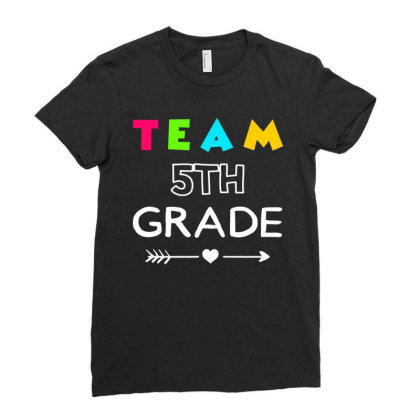 Team 4th Grade Back To School Ladies Fitted T-shirt Designed By Fanshirt
