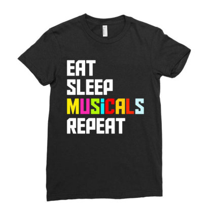 Theater Musical Entertainment Love Ladies Fitted T-shirt Designed By Fanshirt