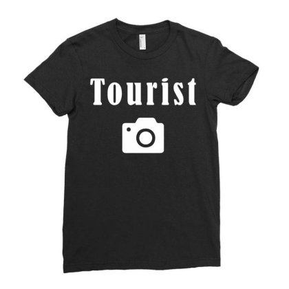 Tourist Ladies Fitted T-shirt Designed By Fanshirt