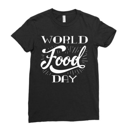 World Vegetarian Day Ladies Fitted T-shirt Designed By Fanshirt
