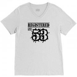 registered no 53 V-Neck Tee   Artistshot