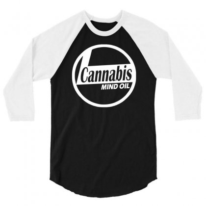 Ganja Oil Men Printed 3/4 Sleeve Shirt Designed By Henz Art
