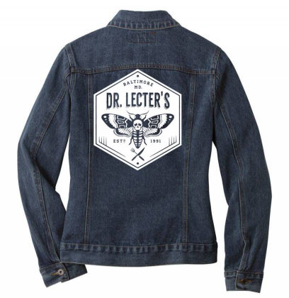 Dr Lecters Cuisine   Hannibal Horror Ladies Denim Jacket Designed By Wowotees