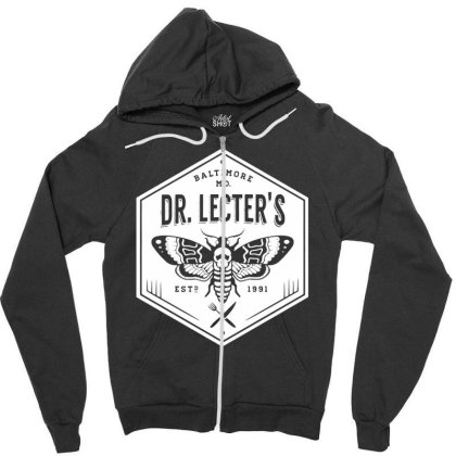 Dr Lecters Cuisine   Hannibal Horror Zipper Hoodie Designed By Wowotees
