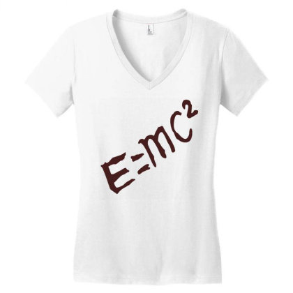 Dr Stone E=mc² Women's V-neck T-shirt Designed By Wowotees