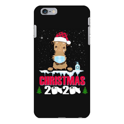 Christmas 2020 Airedale Dog Face Mask Funny Dog Lover Xmas Iphone 6 Plus/6s Plus Case Designed By Love Shiga