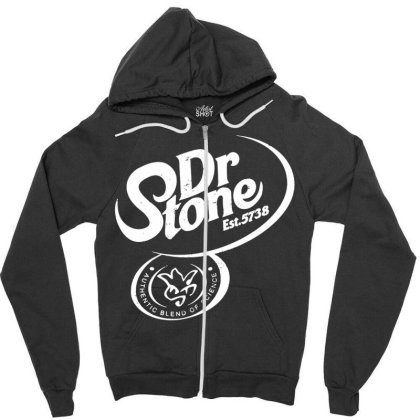 Dr Stone Zipper Hoodie Designed By Wowotees