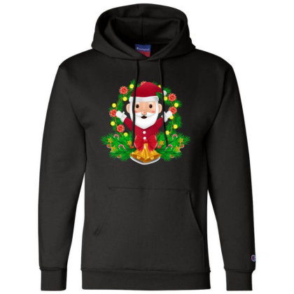 Santa Claus Champion Hoodie Designed By Chiks