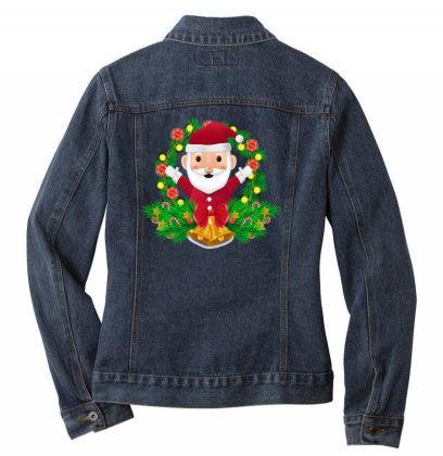 Santa Claus Ladies Denim Jacket Designed By Chiks