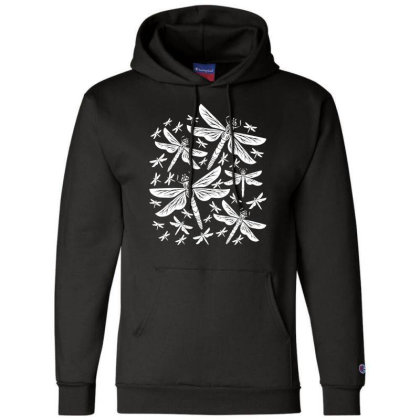 Dragonflies Girly Insects Dragonfly Champion Hoodie Designed By Wowotees