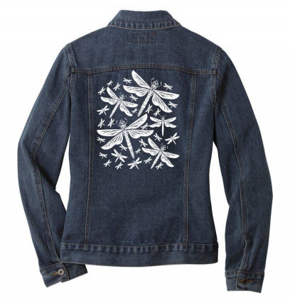 Dragonflies Girly Insects Dragonfly Ladies Denim Jacket Designed By Wowotees
