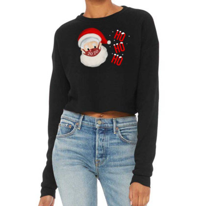 2020 Santa With Mask Cropped Sweater Designed By Akin
