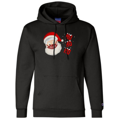 2020 Santa With Mask Champion Hoodie Designed By Akin