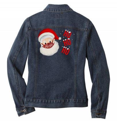 2020 Santa With Mask Ladies Denim Jacket Designed By Akin