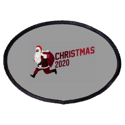 Christmas Santa 2002 Oval Patch Designed By Akin