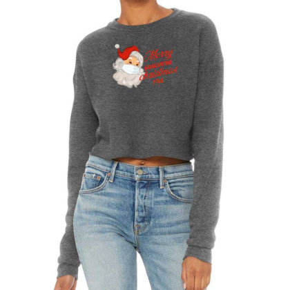 Merry Quarantine Christmas Y'all Cropped Sweater Designed By Akin