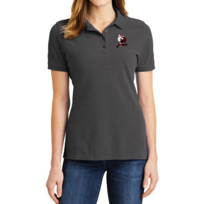 Santa Brings Disinfectant Ladies Polo Shirt Designed By Akin
