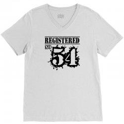registered no 54 V-Neck Tee | Artistshot