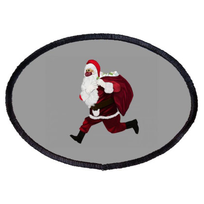 Santa Brings Disinfectant Oval Patch Designed By Akin