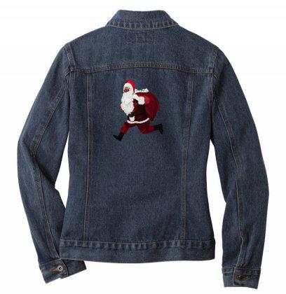 Santa Brings Disinfectant Ladies Denim Jacket Designed By Akin