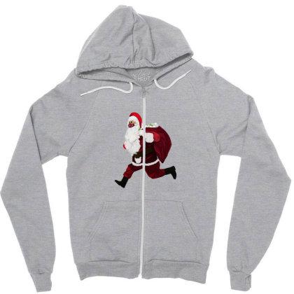 Santa Brings Disinfectant Zipper Hoodie Designed By Akin