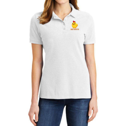 Baby Rooster Ladies Polo Shirt Designed By Akin