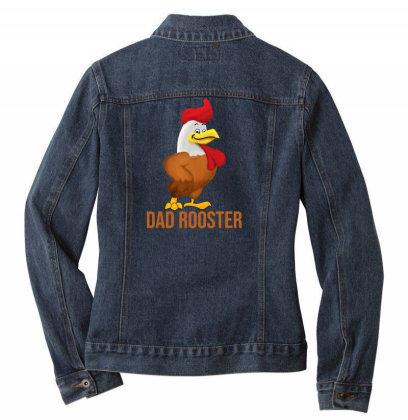 Dad Rooster Ladies Denim Jacket Designed By Akin