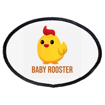 Baby Rooster Oval Patch Designed By Akin