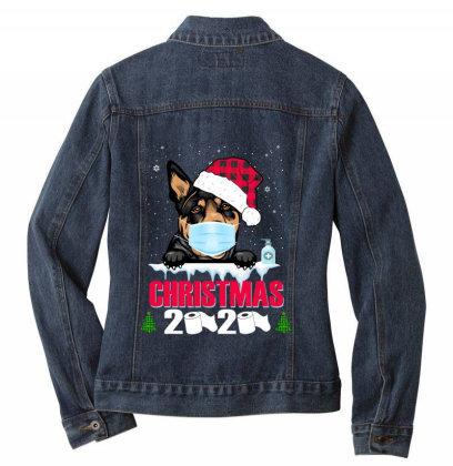 Christmas 2020 Australian Kelpie Dog Face Mask Funny Dog Lover Xmas Ladies Denim Jacket Designed By Love Shiga