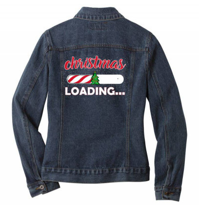 Christmas Loading Ladies Denim Jacket Designed By Ashlıcar