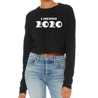 I Survived 2020 Cropped Sweater Designed By Fahmifutri