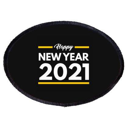 Happy New Year 2021 Oval Patch Designed By Fahmifutri